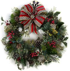 MacKenzie-Childs - Highland Small Wreath- Click on the image for more info - #christmasdecor #christmaswreaths #christmas | christmas wreaths | christmas wreaths diy | christmas wreaths for front door | Artificial Christmas Wreaths | Christmas decorations - Wreaths | Christmas Wreaths & Decor | Christmas Wreaths |