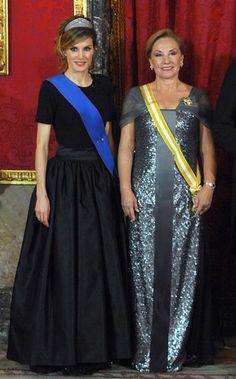 Letizia en una cena de gala en el Palacio Real