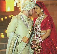 Priyanka Chopra and Nick Jonas are now man and wife but we are still not Celebrity Wedding Photos, Celebrity Couples, Celebrity Weddings, Priyanka Chopra Images, Priyanka Chopra Wedding, Indian Bride Poses, Indian Wedding Photography Poses, Indian Groom, Couple Wedding Dress
