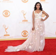 Kerry Washington @ 2013 Emmys - Dress, Makeup, Hair Photos