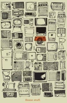 House stuff #illustration #design #poster
