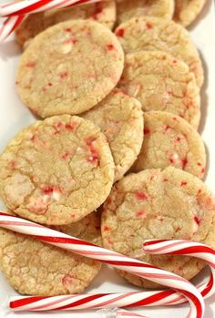 Candy Cane Crinkle Cookies Recipe for Christmas
