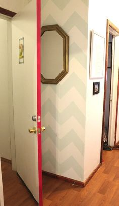 Paint the side of the door for a surprise pop of color