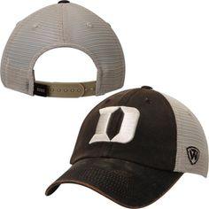 separation shoes 7400c f5897 Duke Blue Devils Top of the World Brown Scat Mesh Adjustable Snapback Hat  Cap