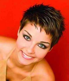 Short Spiky Haircuts For Fine Hair amazing short spiky hairstyles for round faces 425 X 496 pixels Short Spiky Hairstyles, Very Short Haircuts, Haircuts For Fine Hair, Hairstyles For Round Faces, Short Hairstyles For Women, Hairstyles 2016, Black Hairstyles, Natural Hairstyles, Short Grey Hair