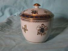 18th Century CAUGHLEY SALOPIAN DRESDEN FLOWERS SUCRIERE and COVER Blue S Mark