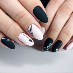 We thought that a matte and edgy can go hand in hand, especially if we have black hues in mind. That is why we present to your attention an extraordinary compilation of ideas to pull off black and matte combo so that it looks stylish and far from being boring.#nails#nailart#naildesign#mattenails