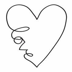 love en contorno de corazon
