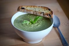 if you are on a vegan/raw food diet...sweet pea and mushroom soup