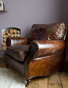 vintage brown leather chair - Google Search