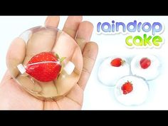 How to make Edible Strawberry RAINDROP CAKE - Water Cake (Ooho) - YouTube