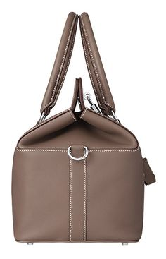 Hermes - Toolbox handbag in etoupe swift calfskin leather.