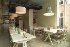 DIT by Studio Boot * Interiors * The Inner Interiorista Modern Restaurant, Restaurant Interior Design, Cafe Restaurant, Restaurant Interiors, Restaurant Ideas, Dining Table Pendant Light, Cafe Concept, Cafe Bistro, Cafe Bar
