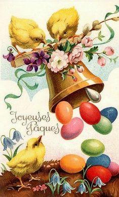 carte ancienne Joyeuses pâques312