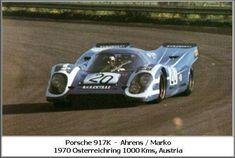 Kurt Ahrens, Jr. / Helmut Marko - Porsche 917K - Porsche KG Salzburg - 1000 Kilometres of Austria - Zeltweg 1000 Kilometres - 1970 International Championship for Makes, round 10