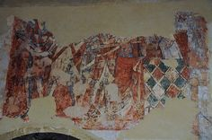 South Newington St Peter Ad Vincula church wall paintings on north wall martyrdom of St Thomas a Becket c1330 -18-31