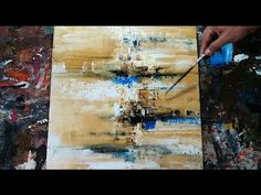 Abstract painting / How to paint EASY abstract painting / Demonstration / Acrylic - YouTube