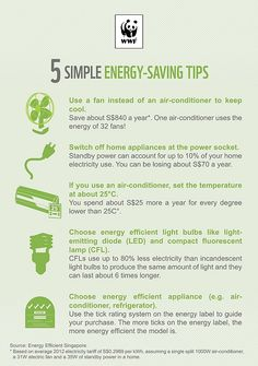 energy saving tips.