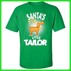 Santa's Little Tailor Christmas - Adult Shirt M Irish-green - Holiday and seasonal shirts (*Amazon Partner-Link)