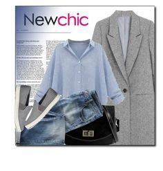 """NEWCHIC.com"" by monmondefou ❤ liked on Polyvore featuring Wrap, Vince, women's clothing, women's fashion, women, female, woman, misses, juniors and newchic"