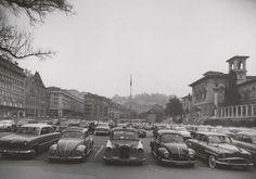 Lausanne, Montreux, Parking, Service, Place, Vintage Posters, Switzerland, Landscapes, Images