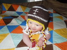 Redskins+Baby+Boy+Knit+Hat+Football+Crochet+by+HippityHoppityHats,+$15.00