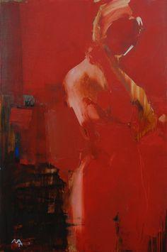 "Alina Maksimenko; Painting, ""Red Figure"""