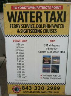 Charleston Water Taxi in Charleston, SC