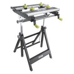 Ryobi Foldable Metal Workbench with Adjustable Angle Dewalt Power Tools, Ryobi Tools, Steel Workbench, Workbench Plans, Power Tool Storage, Mobile Workshop, Bad Room Ideas, Electrical Projects, Electrical Tools