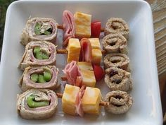"kid ""sushi"". Love this! I make peanut butter and banana ""sushi"" for my kids all the time too :)"