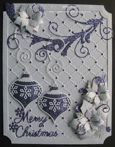 pamscrafts: purple  and white christmas