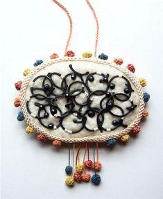 Joanne Haywood | Talisman Pectoralnecklace:Merino felt, oxidized silver, cotton, natural dyes.