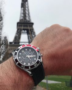 A winter stroll at Champ de Mars with the Lasciva model PL44044.04, get it online at $520 worldwide shipping included #hughcapet #swissmade photo by @patrickcolpron 