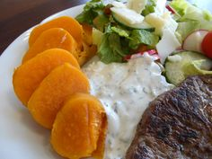 Steak zo sviečkovice s batatmi  www.inmedio.sk
