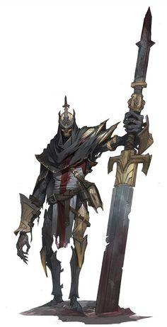 Stelae knight, Shuohan zhou on ArtStation at… Medieval Fantasy, Dark Fantasy, Fantasy Art, Fantasy Inspiration, Character Design Inspiration, Character Design References, Character Art, Watercolor Flower, Ange Demon