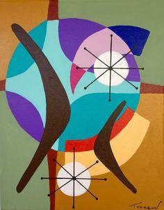 "ARTFINDER: ""Night Flight"" by Amauri Torezan - 11"" x 14"" acrylic on gallery streched canvas ."