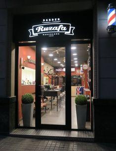 Modern Barber Shop, Barber Shop Interior, Hair Salon Interior, Barber Shop Decor, Shop Interior Design, Barber Logo, Barbershop Design, Beauty Salon Decor, Hair Shop