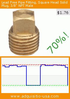 """Lead Free Pipe Fitting, Square Head Solid Plug, 3/8"""" NPT Male (Misc.). Drop 70%! Current price $1.76, the previous price was $5.78. http://www.adquisitio-usa.com/merit-brass/lead-free-pipe-fitting-7"""