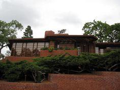 Hanna House / Honeycomb House. 1936. Stanford, California. Usonian. Frank Lloyd Wright.