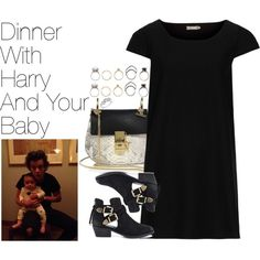 Dinner with Harry and Your Baby by onedirectionimagineoutfits99 on Polyvore featuring Topshop, Steve Madden, Chloé, Iosselliani and Reeds Jewelers
