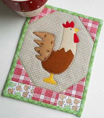 Patchsmith's Rooster Mug Rug | by The Patchsmith
