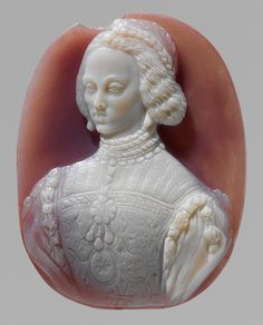 Leone Leoni, Cameo Portrait of Empress Isabella (reverse) and Emperor Charles V and King Philip II of Spain (obverse), 1550