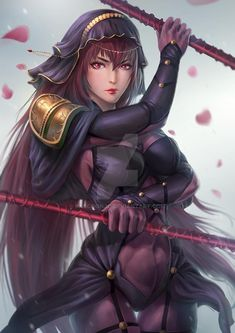 Fan Art for Scathach, i love this character so much ^^ hope u guys love it !