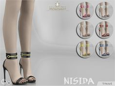 Madlen Nisida Shoes by MJ95 at TSR via Sims 4 Updates