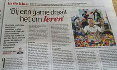 Bij een game draait het om leren. Algemeendagblad 5 maart