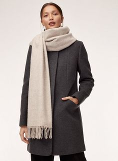 Woven with pure wool, the Classic has a soft, plush feel and a wide shape — wear it as a shawl or looped around your neck. Wool Scarf, Cashmere Scarf, Olive Clothing, Stylish Coat, Skinny Scarves, Scarf Styles, Cute Outfits, Shape Wear, Vestidos