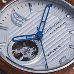 features porthole cutaway design dial give sight into beating mechanism heart this timepiece Visit:https://www.spinnaker-watches.com/pages/shop-our-instagram