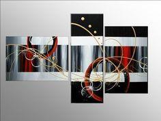 cuadros modernos para comedor - Buscar con Google Diy Wall Art, Diy Art, Canvas Wall Art, 3 Piece Art, Art Pieces, Canvas Paintings For Sale, Panel Art, Geometric Art, Lovers Art