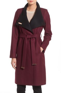 Can't wait until the weather is cool enough to bundle up in this super chic burgundy and black Ted Baker London wrap coat. Highly recommend checking it out at the Anniversary Sale.