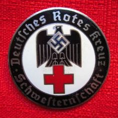 WWII German DRK Brooch WW2 Red Cross Badge Pin Mkd Exc NSDAP Uniform Insignia, Military Insignia, Medical Symbols, Medical Art, Military Awards, Nazi Propaganda, Badges, German Uniforms, The Third Reich